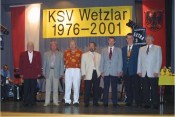 Die Gründer v.l. K.H.Lehnhausen, W.Nikelski, K.Fischer, U.Hornung, H.Altmann, G.Mutter, H.Wohlert