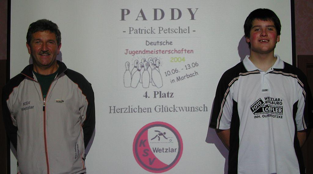 Patrick mit seinem DJM-Betreuer Helmut Listmann